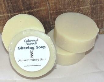 Cedarwood Patchouli Scented Round Shaving Shave Soap