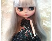 CottonCandyWorkshop Blythe Dress, Black flowery lace Dress