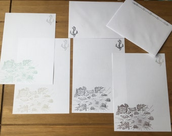 Nautical Map Writing/Letter Set
