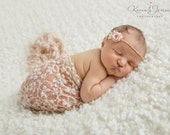 Newborn Headband, Newborn photo prop, Baby photo prop, Eco headband, Newborn tieback