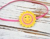 Baby Headband - Baby Sun headband - Baby Felt Headband - Girls Sunshine Headband