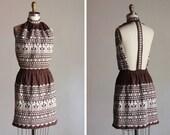 1960s Geoglyphs Open-back Mini Dress