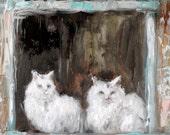 The Watchers. Original Oil Painting  by Kelly Berkey 10x8
