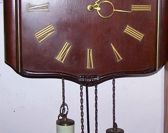 Vintage Haid Eight Day Weight Driven Clock