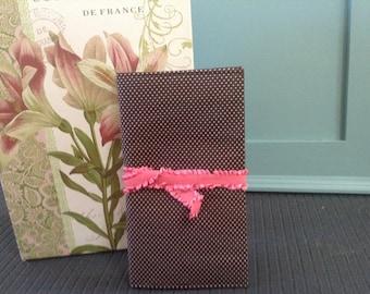 Brown Polka Dot, Budget book cover, financial peace, check book, organizer cover