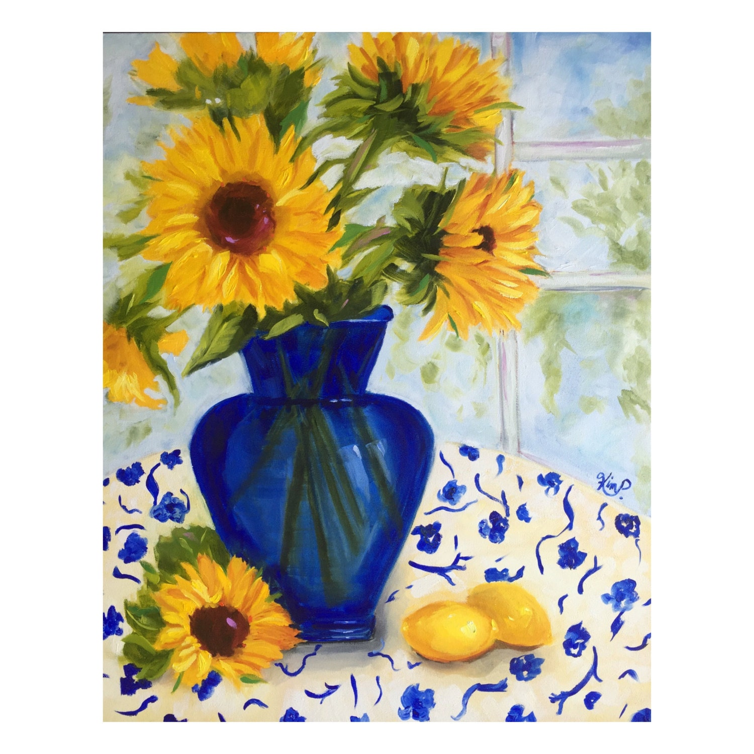 Original Oil Painting FLOWERS for YOU Modern Impressionist