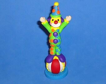 Polymer Clay Clown on Ball