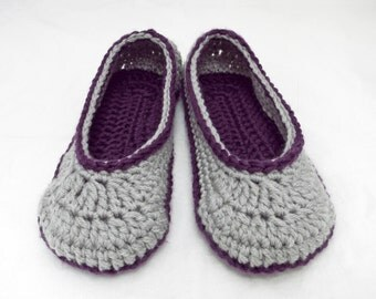 Crochet Pattern-- 2 Hour Slipper --Crochet Pattern - Includes Full Stitch Charts
