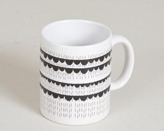 SALE. Porcelain mug 'Rainy Days' . Porcelain mug. Handmade. Pottery mug. Ceramic mug Porcelain cups. Porcelain mug