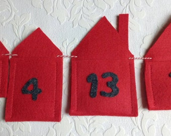 Advent garland advent calendar