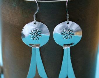 Silver Southwestern Earrings