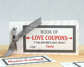 Personalized Love Coupon Book For Him, couple gift, valentine's day, gift for boyfriend, valentine's day gift, valentine coupon -gfy11004817