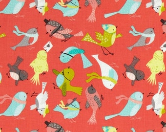 05006 -Camelot Fabrics It's a Birds Life collection - Birdies in bright pink - 1 yard