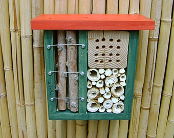 INSECT HOTEL, Bug Hotel, Bug House, Insect House, Insect Sanctuary, Yard Art. Ready to Ship