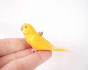 Miniature yellow parrot  necklace