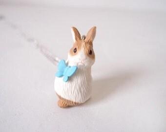 Miniature bunny necklace