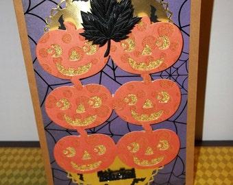 Trick or Treat Pumpkins 2 card set