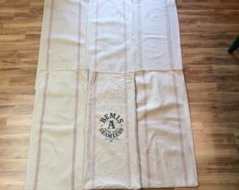 6 Pack Vintage Striped seed sacks