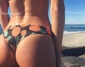 REVERSIBLE: LANI KAI Brazilian Bikini Bottoms Create Your Own pineapple bikini