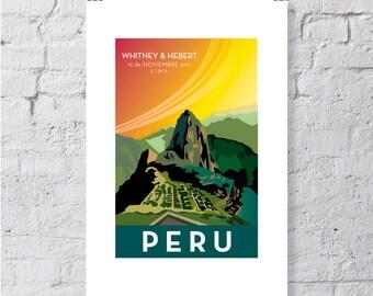 Peru, Machu Picchu print