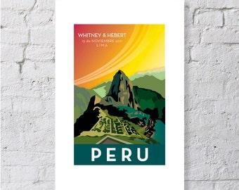 Peru, Machu Picchu, keepsake / print