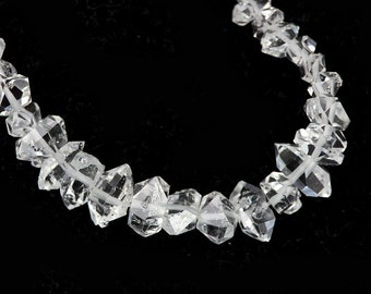 Herkimer Diamond Crystal Beads 4 Double Terminated Herkimer Diamond Crystal Clear Semi Precious Gemstones