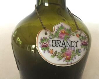 Vintage porcelain liquor decanter necklace