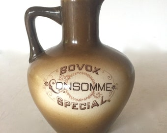 Vintage advertisement jar / pitcher