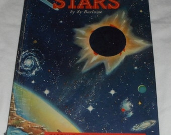 A Child's Book of Stars by Sy Barlowe 1953 Maxton Vintage Hardcover Book