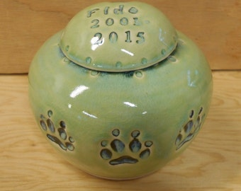 RESERVED for LEAH - Extra Large Size Dog Urn, Personalized Dog Urn, Keepsake Dog Urn