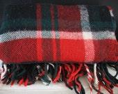 Vintage Troy Plaid Throw - Wool
