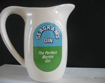 Vintage Seagram's Gin Pitcher New York Martini