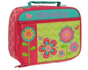 Personalized Lunch Box Bag Stephen Joseph Flower NEW