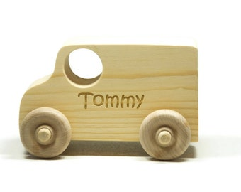 Wooden Toy Car - Personalized for Children and Toddlers