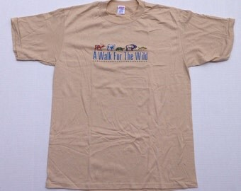 1980's Walk For The Wild t-shirt, large