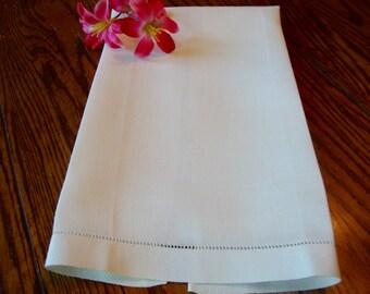 Antique Linen Towel White Tea Towel Guest Towels Kitchen Towels