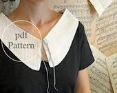 Unique Pdf. collar / necktie sewing pattern.