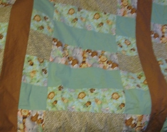 Summer Sale Extra Warm 43 x 54 Toddler Bed Size Jungle Babies quilt