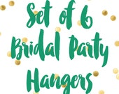 Bridal Party Hangers / Bridesmaid Hangers / Maid of Honor / Mother of the Bride / Wire Name Hangers / 6 Hanger Colors / 11 Wire Colors