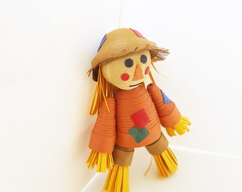 Scarecrow Thanksgiving Decor, Fall Decoration, Scarecrow Ornament, Thanksgiving Decor, Paper Quilled