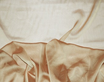 Mocha Gold iridescent two tone sheer Chiffon drapery wedding appeal fabric 50 yards