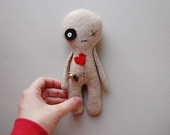 Voodoo Doll, Handmade Doll, Rag Doll, Halloween Decor, Softie Toy, Voodoo Plushie, Halloween Plush Doll