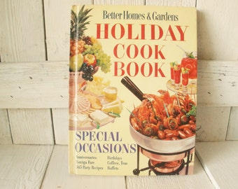 Vintage Holiday Cook Book Better Homes and Gardens recipes menus retro photos 1959