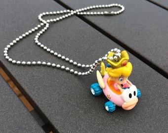 Adorable Kawaii Peach Mario Kart Necklace