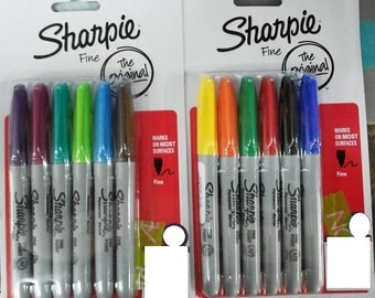 12 pcs Sharpie Permanent Marker Assorted Colour Fine Tip Free Shipping Worldwide
