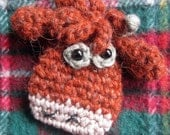 Crochet Pattern for Toffee the Heilan Coo Brooch