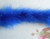 Marabou Natural Feathers Royal Blue 1 meter