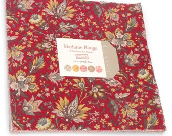 Madame Rouge cotton layer cake by French General for Moda fabric