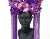 Purple Orchid Headdress