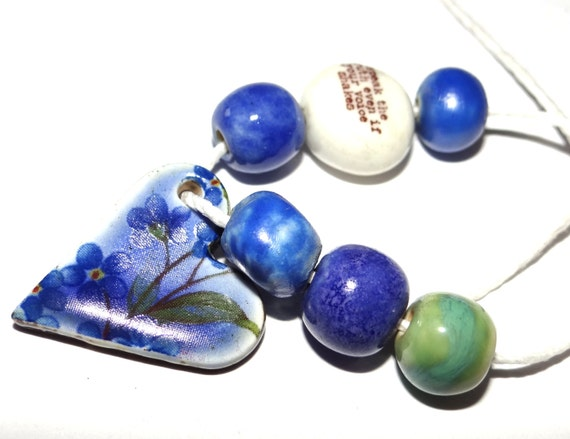 Ceramic Bead Set Pendant